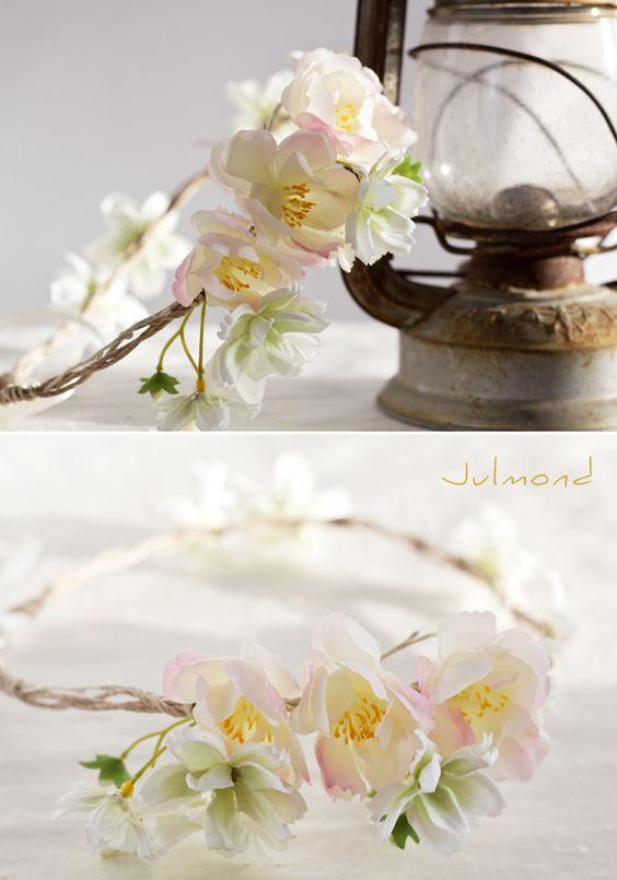 Headpieces & Fascinators - Blumenkrone Haarkranz Elfenkrone Brautkranz *Jolin - ein Designerstück von julmonda bei DaWanda
