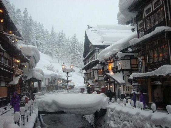 Ginzan Onsen in Winter:  Yamagata's most romantic onsen