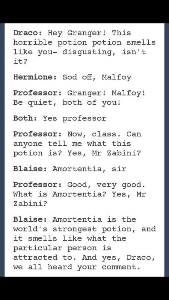Dramione. This is hilarous! Love it!