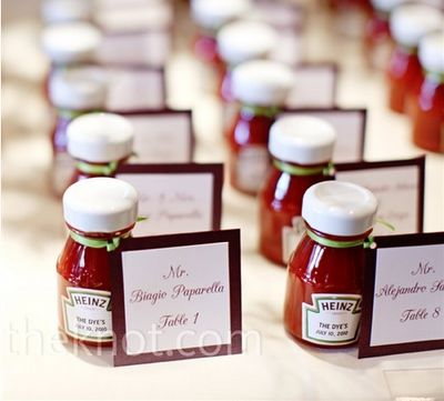 BBQ wedding? Perfect seating cards. | SocialTables.com | Event Planning Software