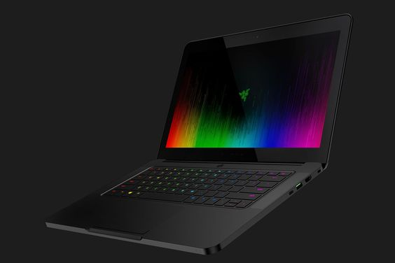 "The New Razer Blade Laptop i7-7700HQ 2.8GHz / 3.8GHz 16GB 2400MHz DDR4, 512GB or 1TB GeForce® GTX 1060 6GB 3840 x 2160 Touchscreen thick Headphone Jack Thunderbolt™ 3 (USB-C™) USB 3.0 port x3 (SuperSpeed) HDMI 4.1lbs 0.7"" x 13.6"" x 9.3"" 4-5 hour battery (9hr in 1080) $2399-2799"