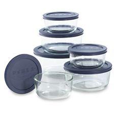 Glass storage, oven, microwave, fridge, freezer, dishwasher safe.