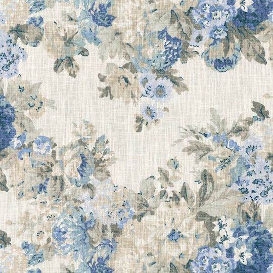 84 or 96 length Drapery Panel in Waverly Country House Toile Indigo