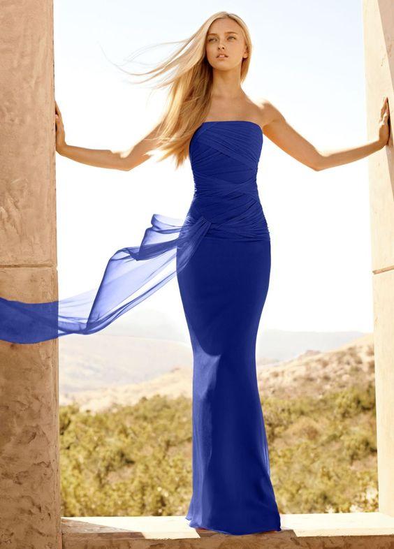 QuoinsUK David's Bridal Sapphire Bridesmaid dress | Sapphire ...