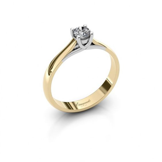 Mia ring - Creëer jouw verlovingsring online - DiamondsbyMe #engagementring #whitegold #gold #diamonds #diamondsbyme