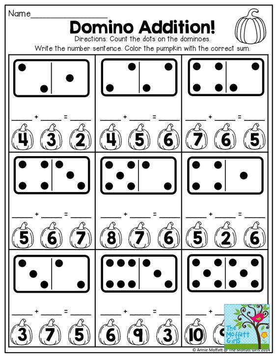 Domino Addition and TONS of other FUN printables for October! : KinderLand Collaborative ...
