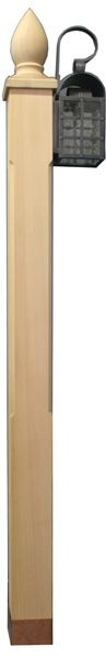 Harbor Postworks Charlestown 6 Western Red Cedar Side Mount Lamppost