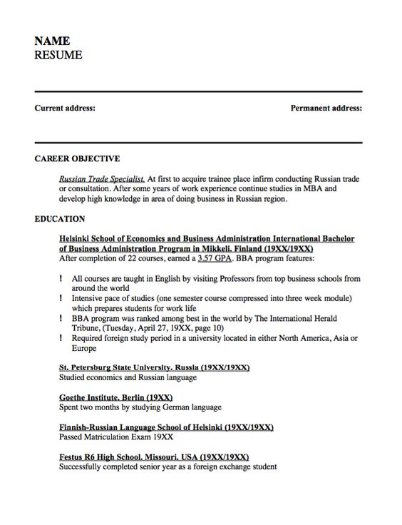 Sample Resume Russian Trade Specialist -    resumesdesign - school attendance officer sample resume