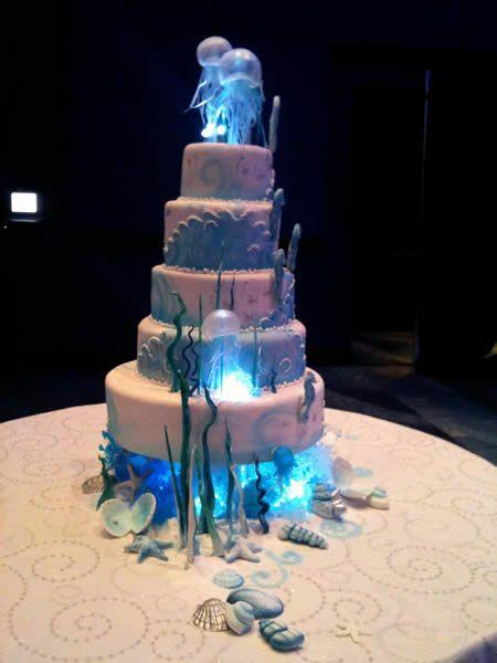 Love this look! Jellyfish Wedding Cake. Looks like blown ...