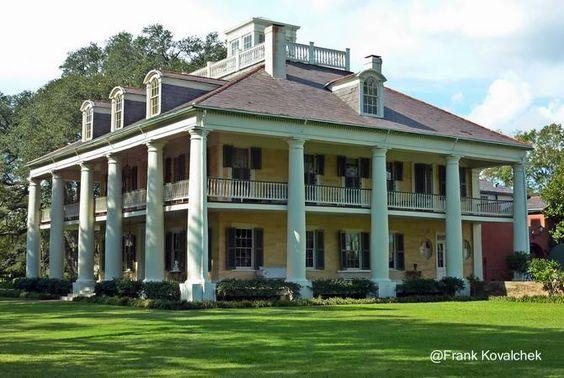 Arquitectura de Casas: Grandes mansiones sureñas norteamericanas.