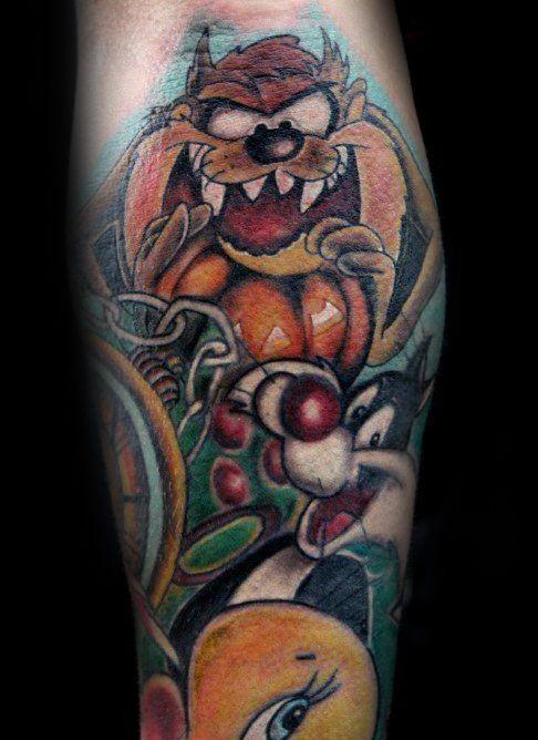 60 Looney Tunes Tattoos For Men Animated Cartoon Ink Ideas Tattoos For Guys Looney Tunes Half Sleeve Tattoos Designs