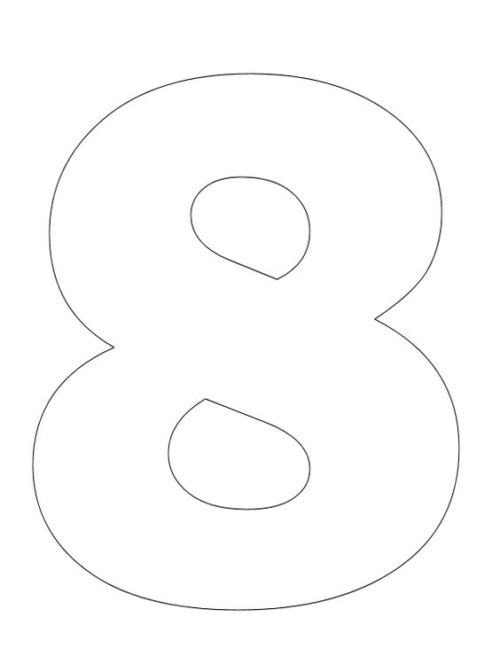 Number pictures to color coloring pages colors and number 8 for Number 8 coloring page