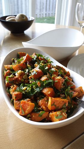 Herbs & Ginger Roasted Sweet Potatoes