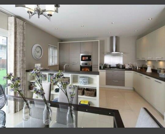 show homes interior design. Interior Designed Kutcheb Duning room in silver greens  pale mink cream colour scheme Redrow Homes 2016 redrowhomes kitchendiningroom inter