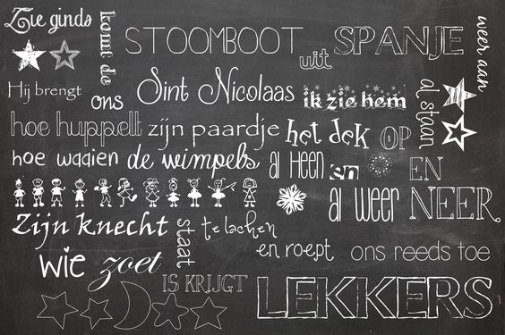 """""""krijt"""" inpakpapier Sinterklaas. Of een leuke versiering van het bord tijdens de surprise in de klas!"""