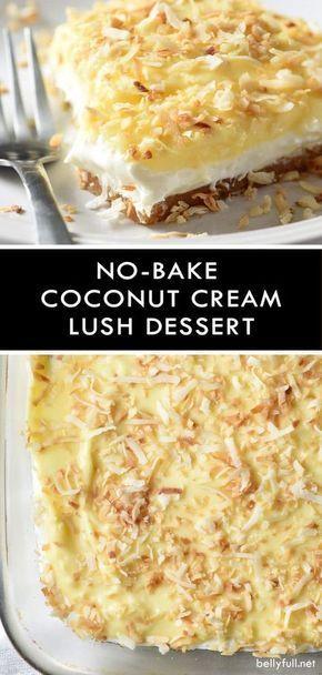 No-Bake Coconut Cream Lush Dessert