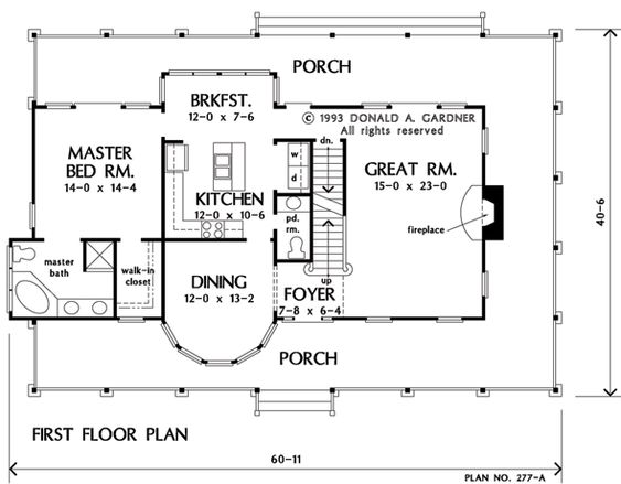 Floorplan The Allendale II House Plan #277