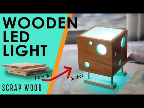 Led Wooden Light From Scrapwood Lampu Tidur Led Dari Kayu Sisa Youtube Wooden Light Wooden Led