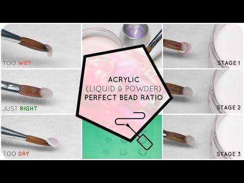2246 Perfect Your Acrylic Bead Ratio Liquid And Powder Youtube Acrylic Nail Powder Acrylic Nails Diy Acrylic Nails