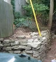 Concrete retaining wall for all that leftover concrete