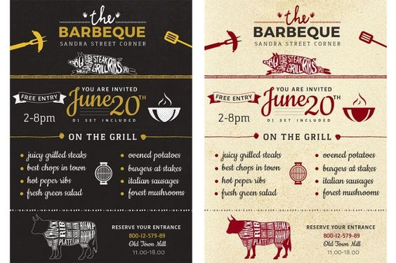 BBQ Wars Flyer Template by FlyerHeroes on @creativemarket Flyers - bbq invitation template