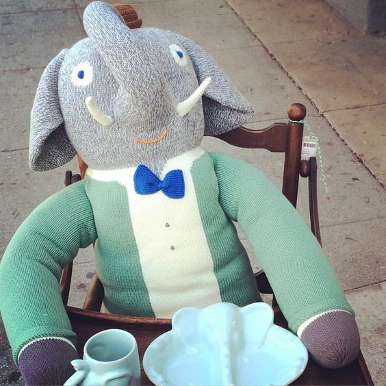 Happy Monday!! Team Dustmuffin is taking the day off.  This handsome elephant will be available for interviews Tuesday!  #elephant , #elephants , #blabla , #elephantbowl , #elephantcup ,#relax, #dayoff