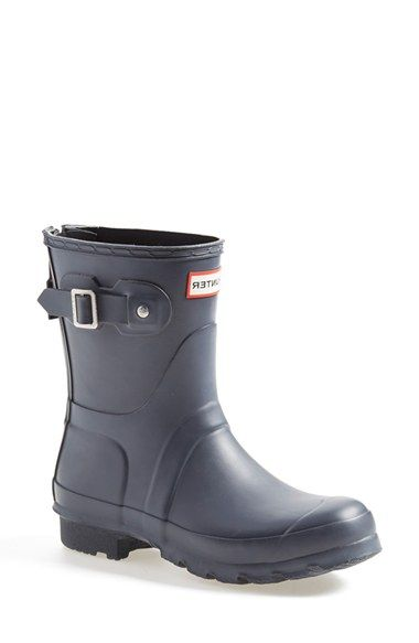 Women&39s Hunter &39Short&39 Back Zip Rain Boot (Nordstrom Exclusive