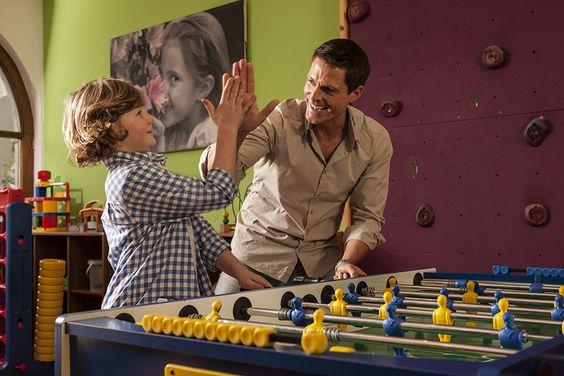 #Tischfußball Turnier im #Kidsclub. Ein Familienurlaub im Hotel Sonnhof mit vielen Highlights!