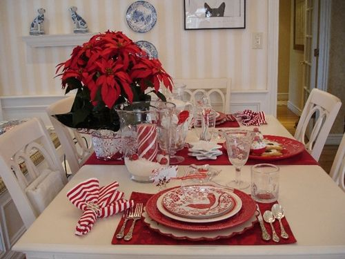 Sweet Nothings: My Candy Cane Tablescape by www.sweetnothingsby.blogspot.com