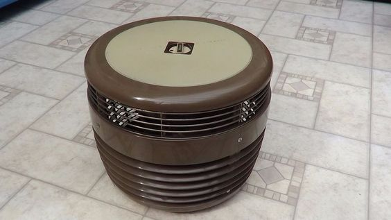 Vintage Sears Circular 360 Degree Floor Fan Hassock Ottoman 3 Speed Grey Works