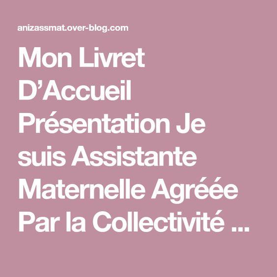 Mon Livret D Accueil Le Blog D Annise Assistante Maternelle Agreee Livret D Accueil Assistante Maternelle Assistante Maternelle Agreee