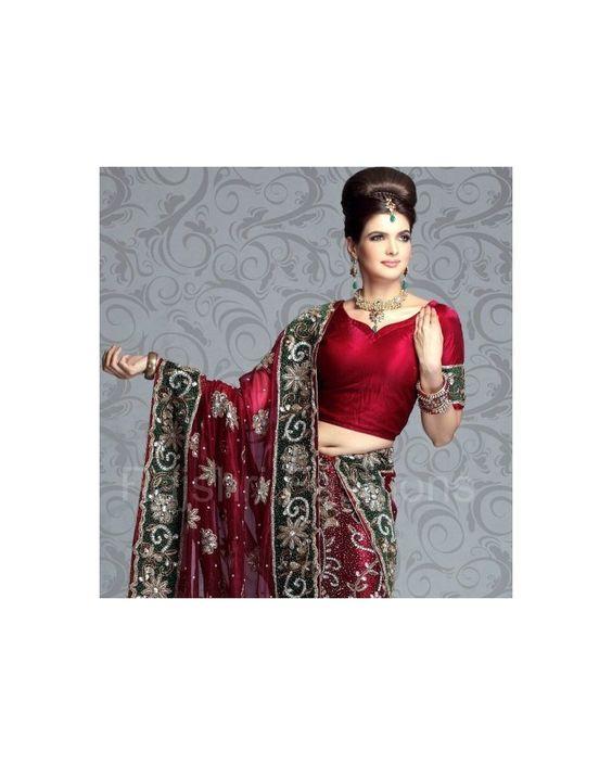 Exclusive bridal  lehanga in net