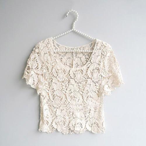 Crochet Vintage Crop Top - $20.00