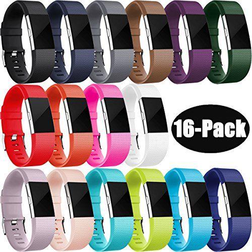 Humenn Fur Fitbit Charge 2 Armband Zwei Farben Weich Silikon Ersatzarmband Smartwatch Sport Band Fur Fitbit Charge 2 Herzf Fitbit Fitbit Charge Charge 2 Bands