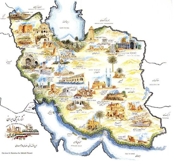 iran map Szukaj w Google RTW Maps and Piktochart – Iran Tourist Attractions Map