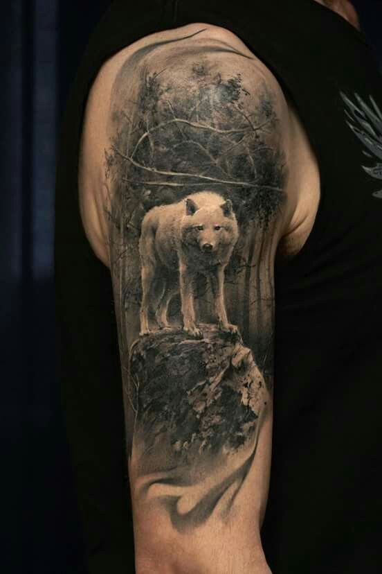 Image Result For Wolf Full Sleeve Tattoo Ideas Wolf Tattoo Sleeve Sleeve Tattoos Full Sleeve Tattoos