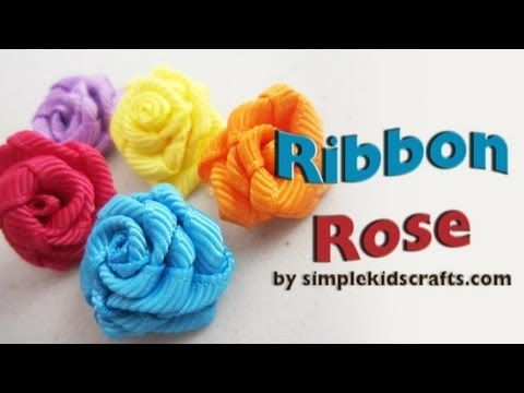 How to make ribbon roses... would make cute additions to Bridal Baseball cuffs