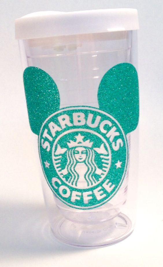 Starbucks Mickey Ears Latte or coffee 16 oz. by TheGlitterSquad