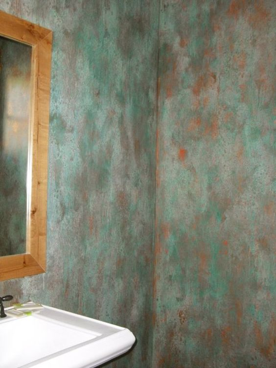 Faux painting with interesting colors faux faux faux for Faux wall painting