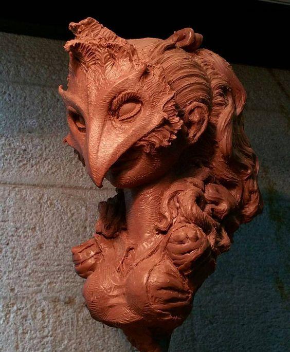A beautiful Alice in Wonderland bust sculpted by one of our favourite sculptor's Lee Joyner (@joynerstudio). -- #aliceinwonderland #cheshirecat #madhatter #sculpt #sculpture #leejoyner #masquerade #bust #wereallmadhere #downtherabbithole #clay #spfx #sfx by sfxatlas