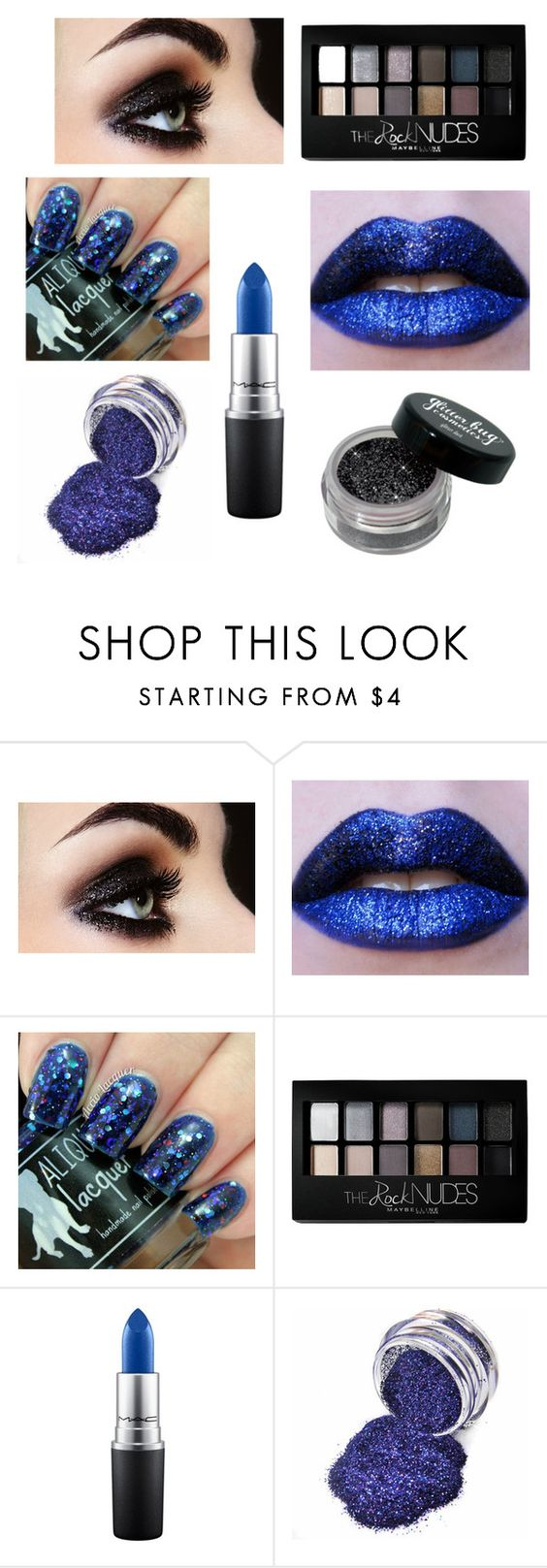 """""""Nye contest makeup"""" by lysmb ❤ liked on Polyvore featuring beauty, Maybelline and MAC Cosmetics"""