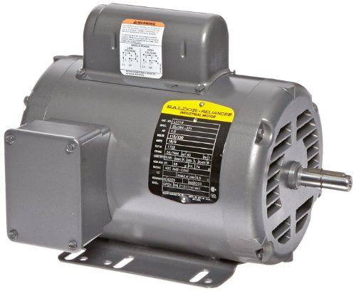 Baldor L1319 General Purpose Ac Motor Single Phase 56 56h Frame Open Enclosure 1 1 2hp Outpu Steel Frame Construction Air Conditioning Units Electric Motor