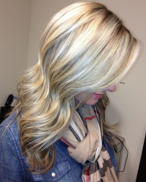 long ash blonde hair with lowlights hair ya go