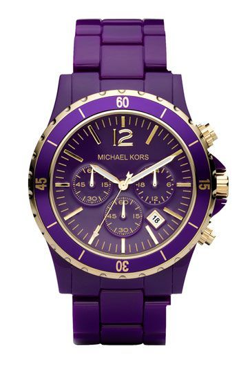 Michael Kors purple watch!   ;p