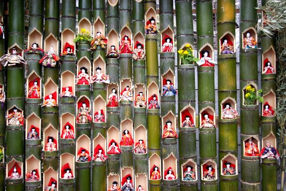 The doll festival, bamboo version in Katsuura