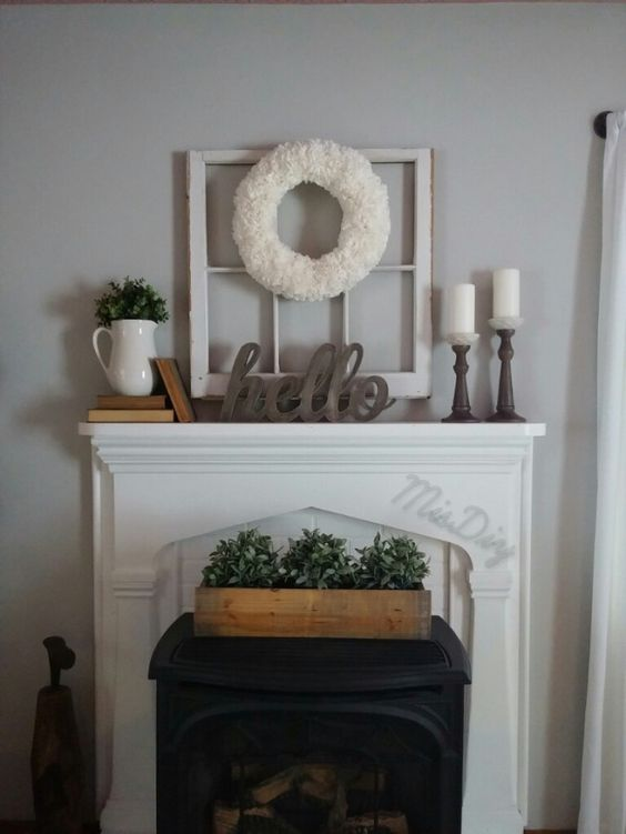 Mantle decor by MisDIY: