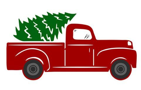 Vintage Red Truck Free Svgs Project Ideas Christmas Red Truck Christmas Tree Truck Truck Crafts