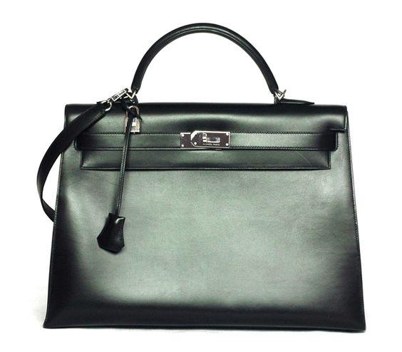 hermes orange bag - HERMES Black Box Leather Kelly 40cm $13,000 (Click through to ...