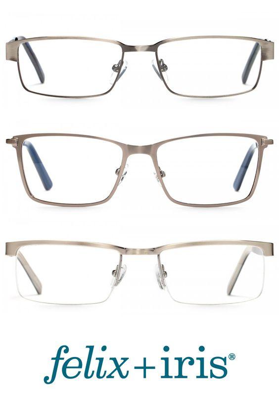 The best silver metal eyeglasses frames for men or women.   felix + iris glasses
