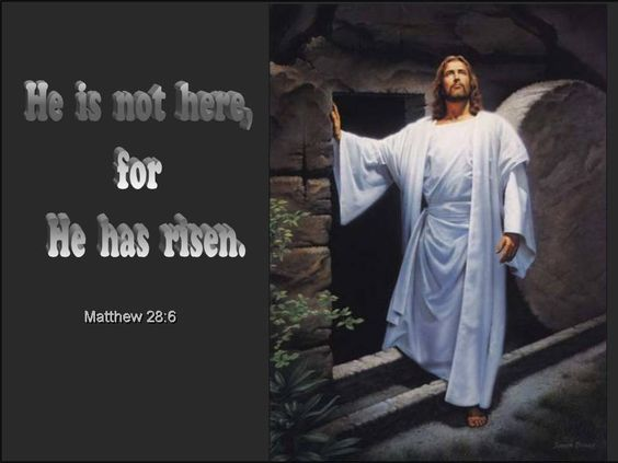 HE HAS RISEN | he is not here for he has risen matthew 28